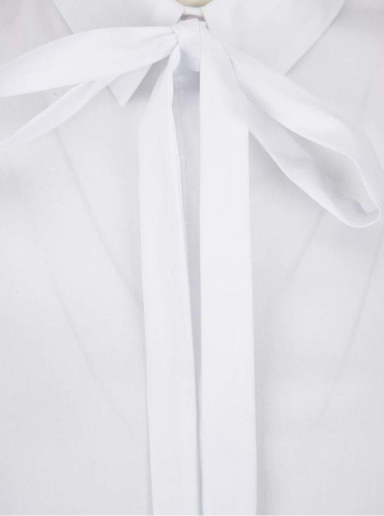 Cămașă albă Miss Selfridge cu detaliu la baza gâtului
