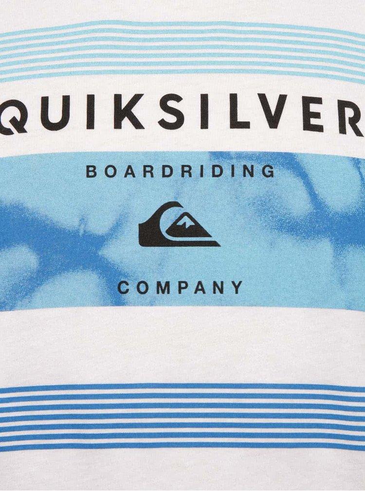Bílé klučičí tričko s krátkým rukávem a potiskem Quiksilver