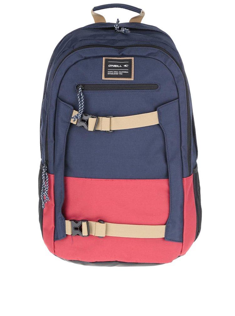Červeno-modrý batoh O'Neill Boarder
