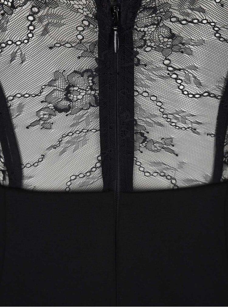 Černé šaty s tenkými ramínky Miss Selfridge