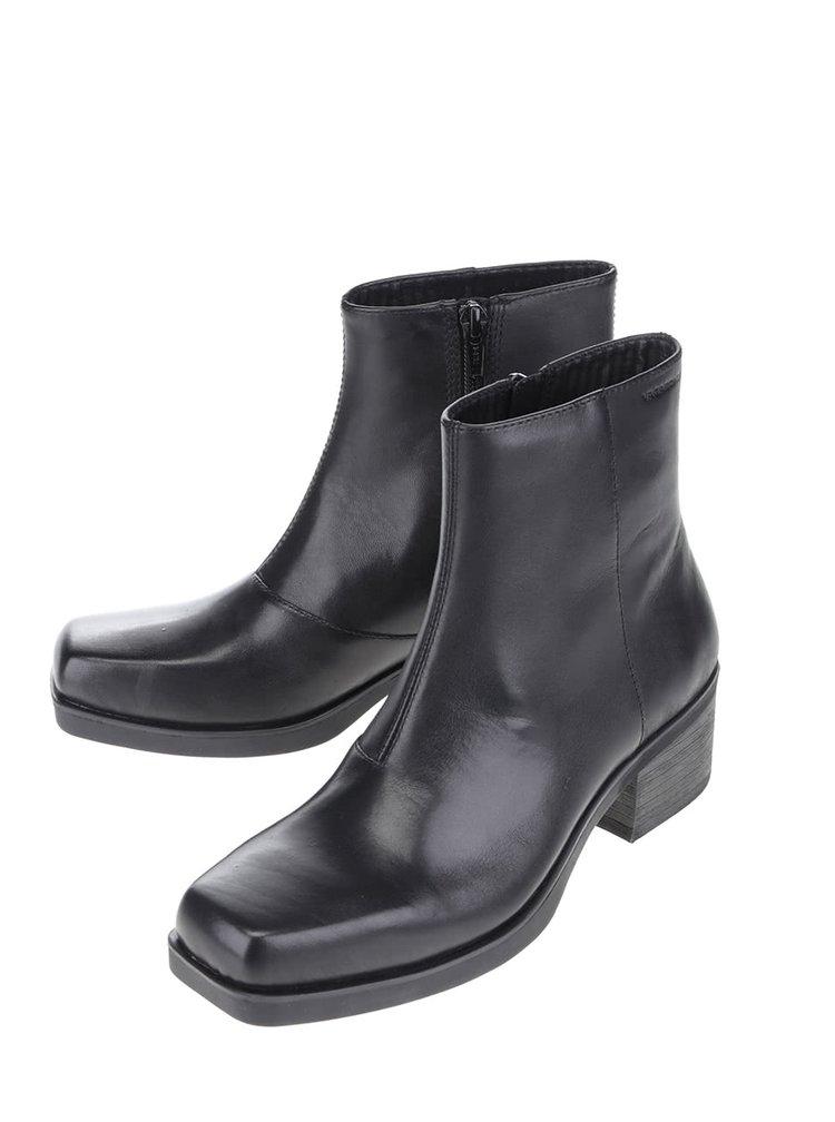 Černé dámské kožené kotníkové boty Vagabond Ariana