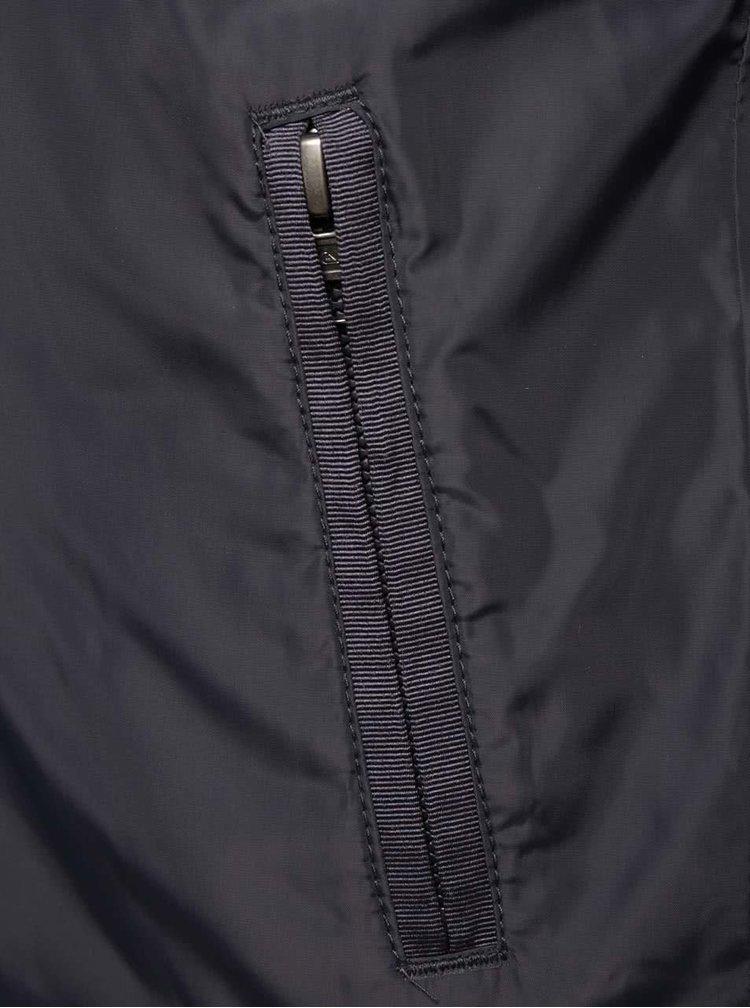 Tmavě modrá klučičí vzorovaná bunda Quiksilver