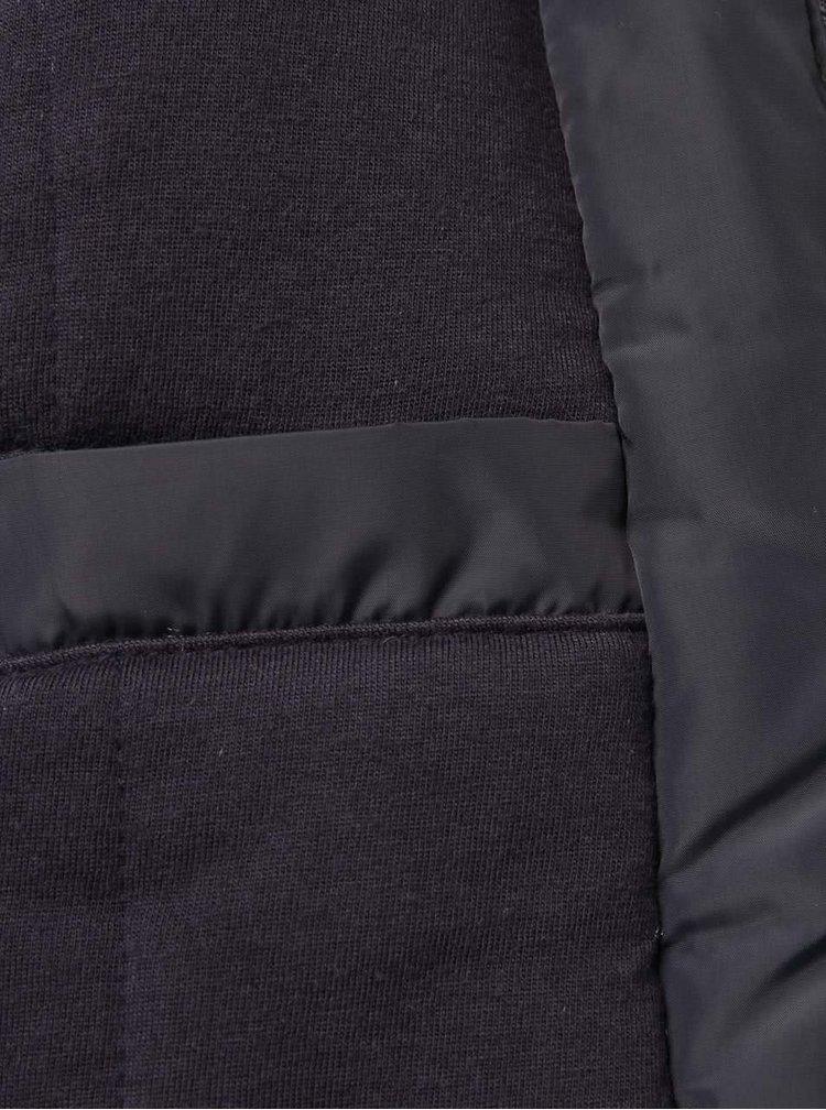 Tmavomodrá chlapčenská vzorovaná bunda Quiksilver