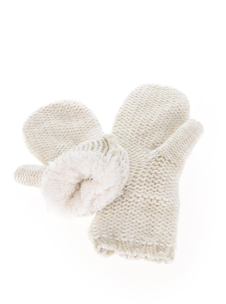 Krémové dámske pletené palčiaky O'Neill Fox