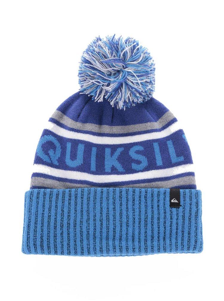 Modrý klučičí pruhovaný kulich Quiksilver