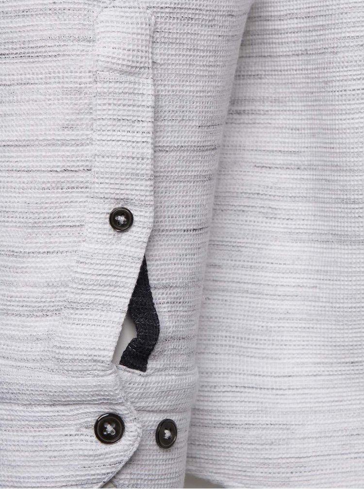 Cămașă crem Burton Menswear London din bumbac cu model discret
