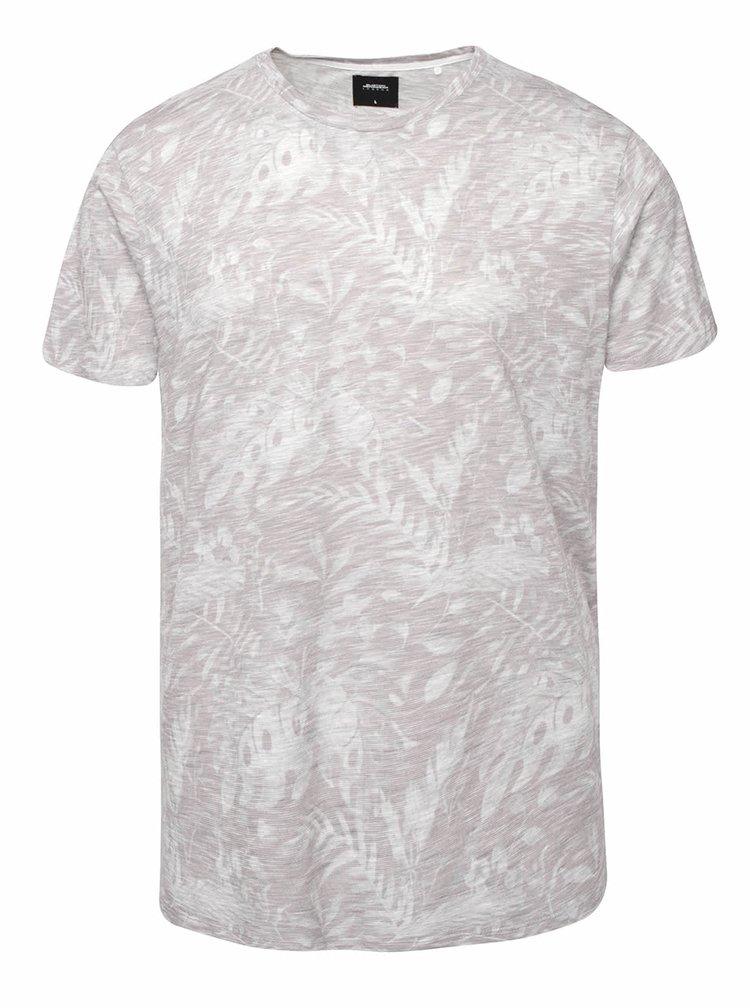 Svetlosivé vzorované tričko Burton Menswear London