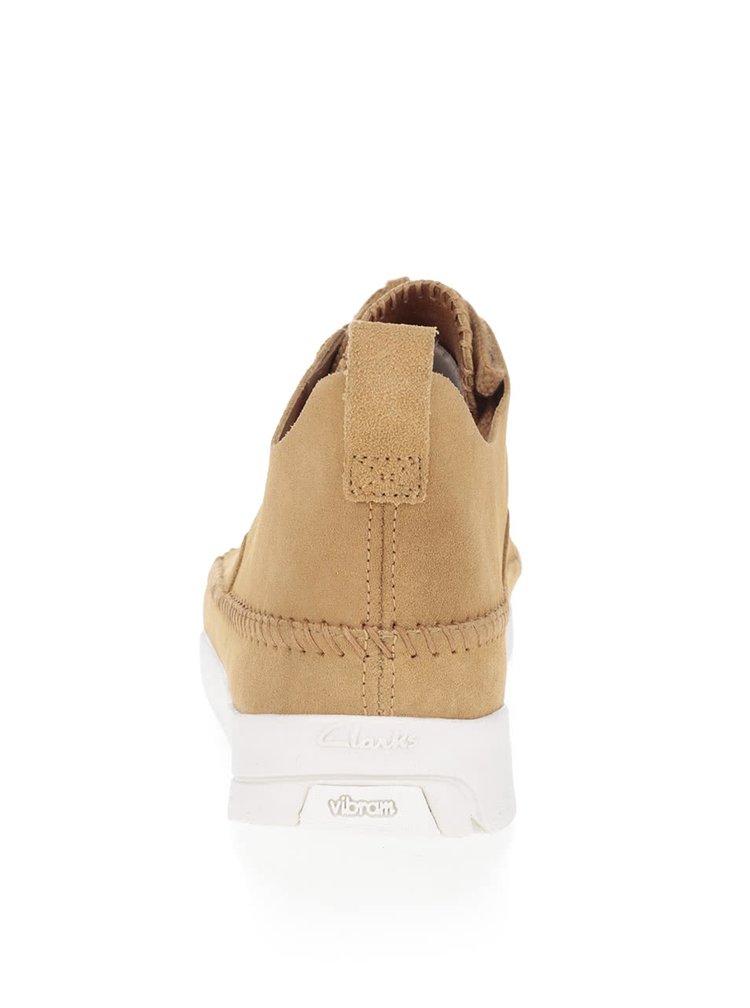 Béžové pánske semišové topánky Clarks Trigenic Flex