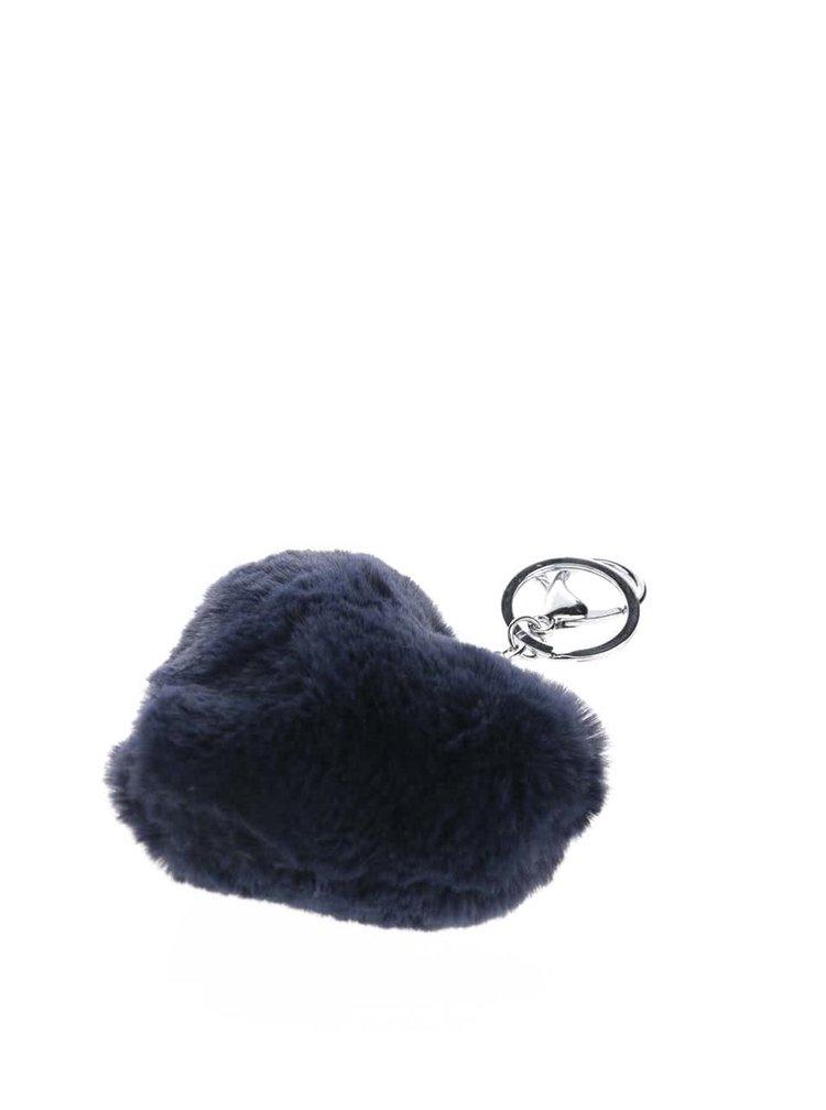 Tmavě modrý přívěsek ve tvaru srdce Haily's Pompom