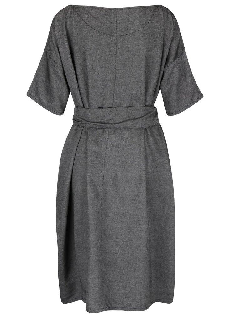 Tmavě šedé oversize šaty Skunkfunk Annua