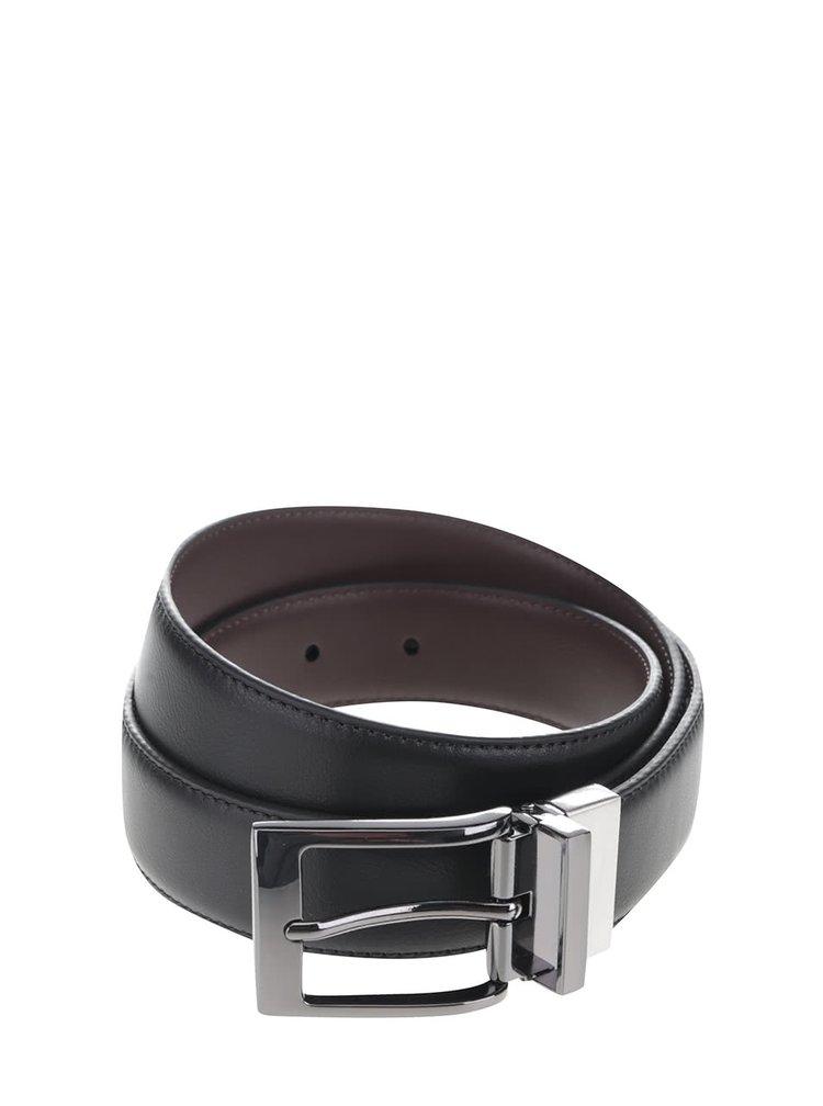 Hnědo-černý pásek Burton Menswear London