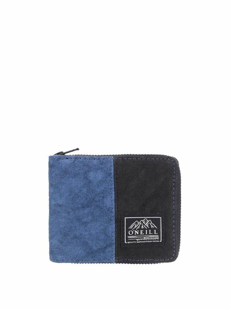 Černo-modrá pánská peněženka na zip O'Neill Barrell