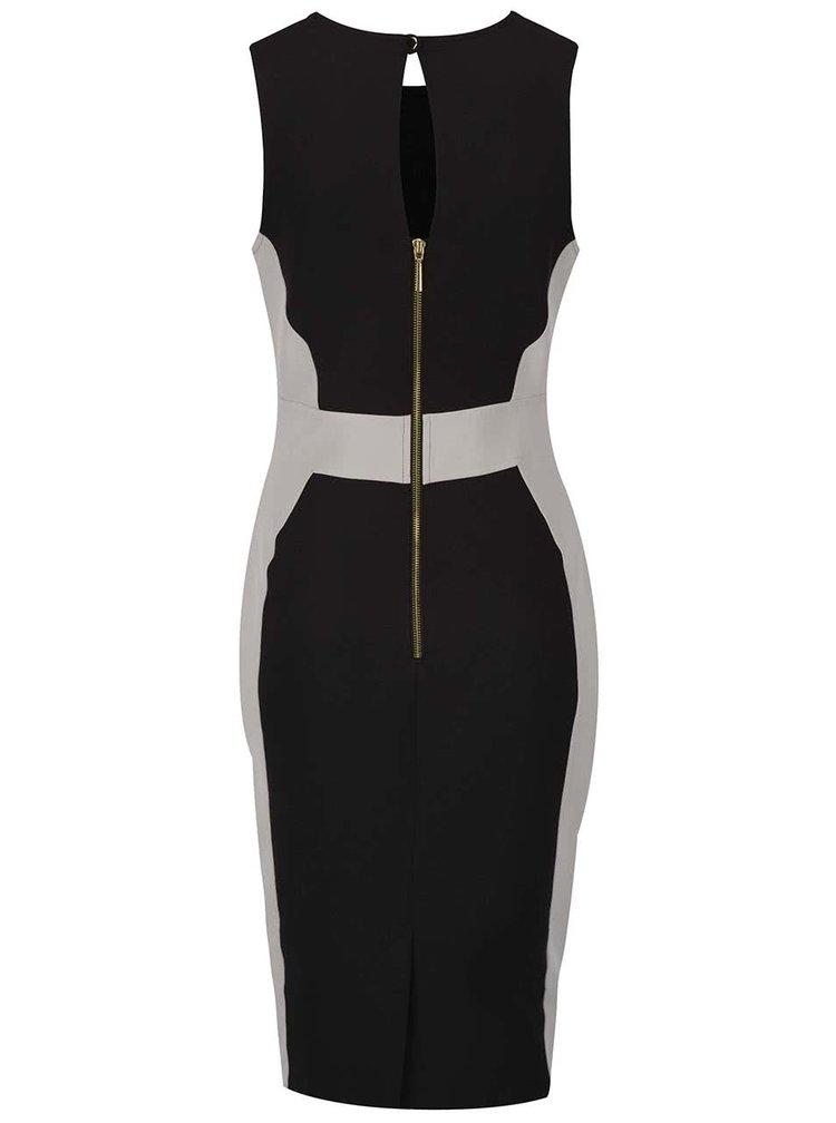 Rochie negru cu gri Dorothy Perkins cu fermoar