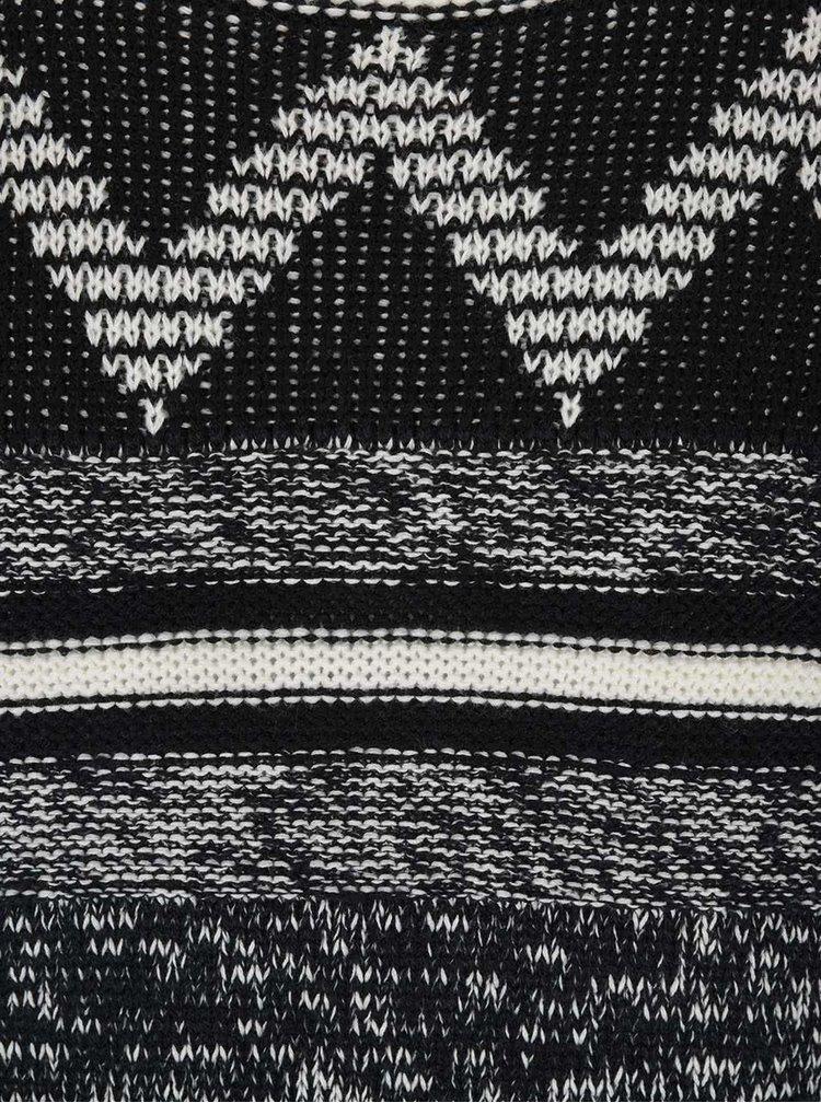 Krémovo-čierny vzorovaný sveter ONLY & SONS Dudley