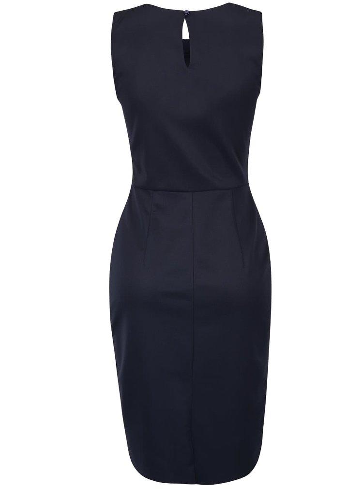 Tmavě modré šaty s ozdobným dekoltem Dorothy Perkins