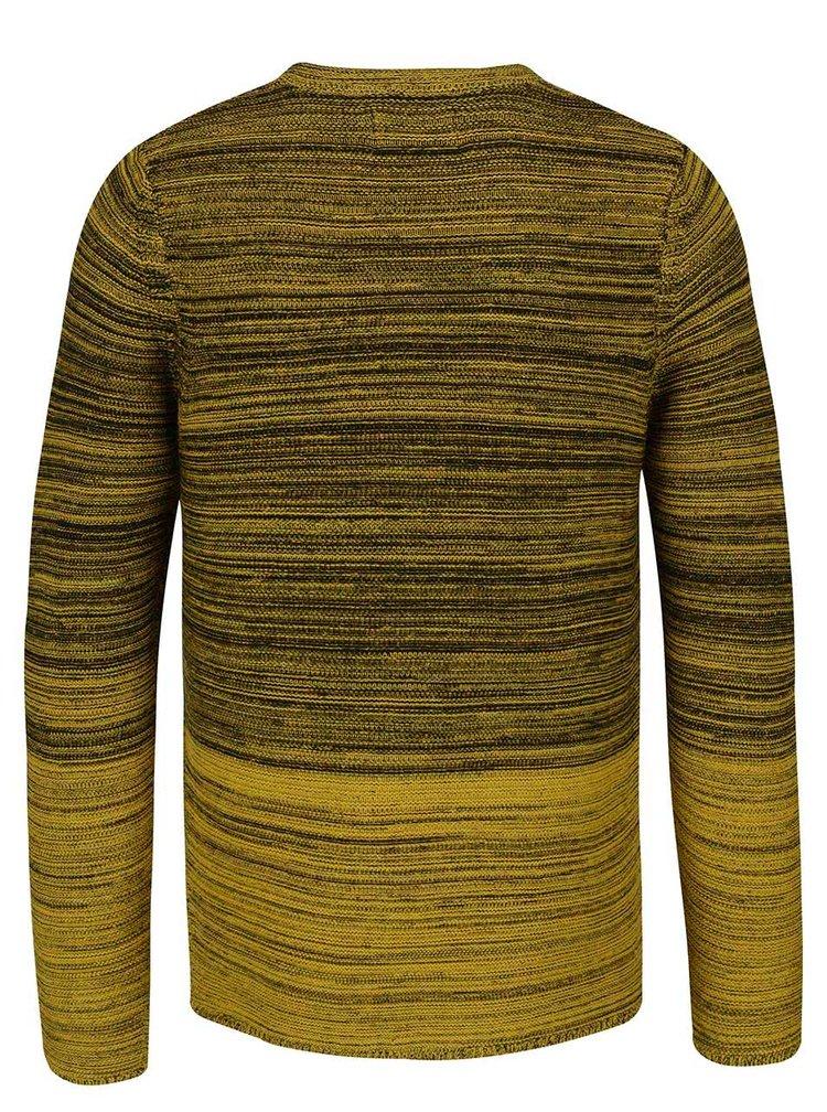 Čierno-žltý sveter s ombré efektom ONLY & SONS Diesel