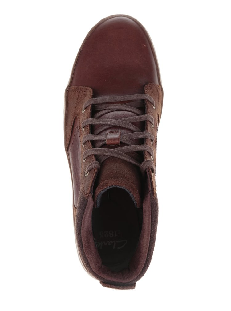 Hnědé pánské kožené kotníkové boty Clarks Lorsen