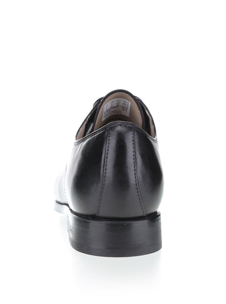 Čierne pánske kožené poltopánky Clarks Amieson Walk