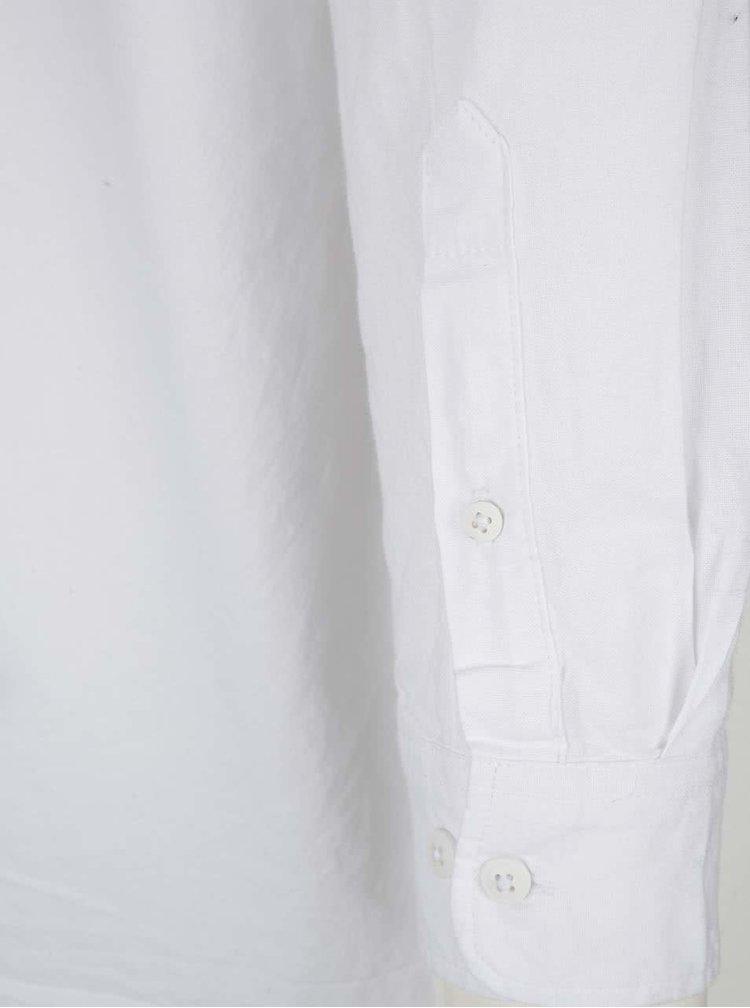 Cămașă albă ONLY & Sons fără guler din bumbac