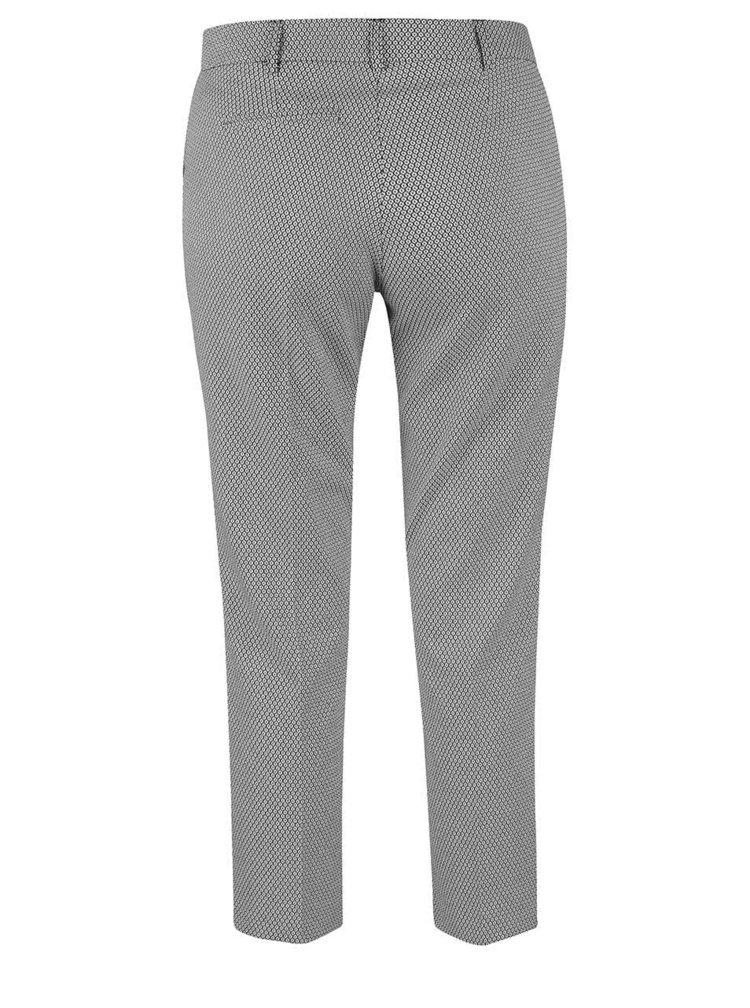 Čierno-krémové vzorované nohavice Miss Selfridge
