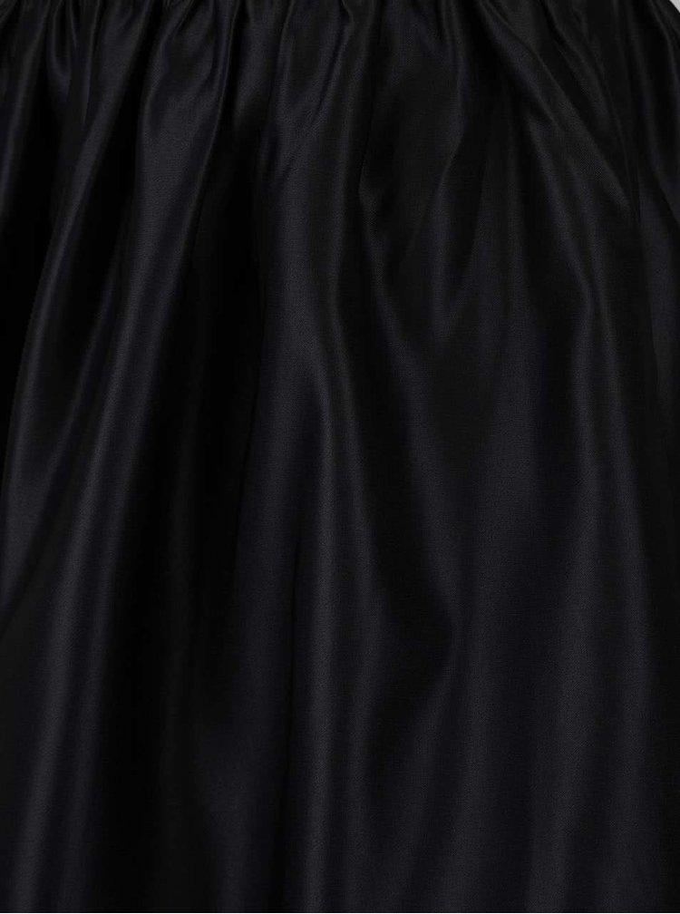 Čierna lesklá sukňa Miss Selfridge