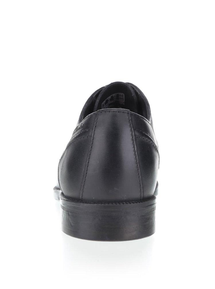 Čierne pánske kožené poltopánky Clarks Brocton Walk