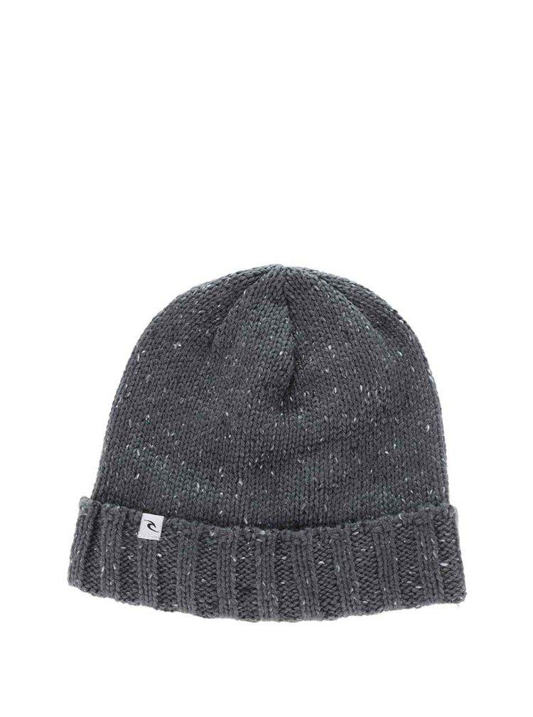 Sivá melírovaná pánska čapica Rip Curl Redondo Beanie