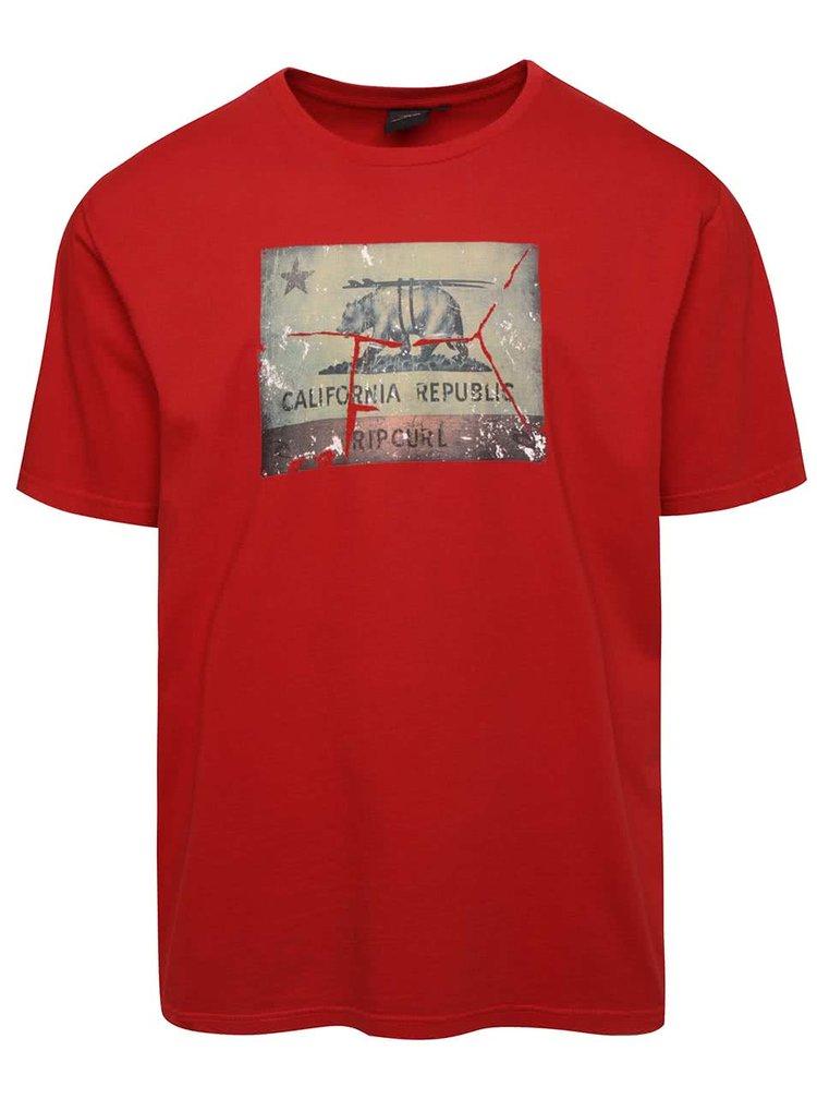 Červené pánske tričko s potlačou Rip Curl Califrutty SS Tee