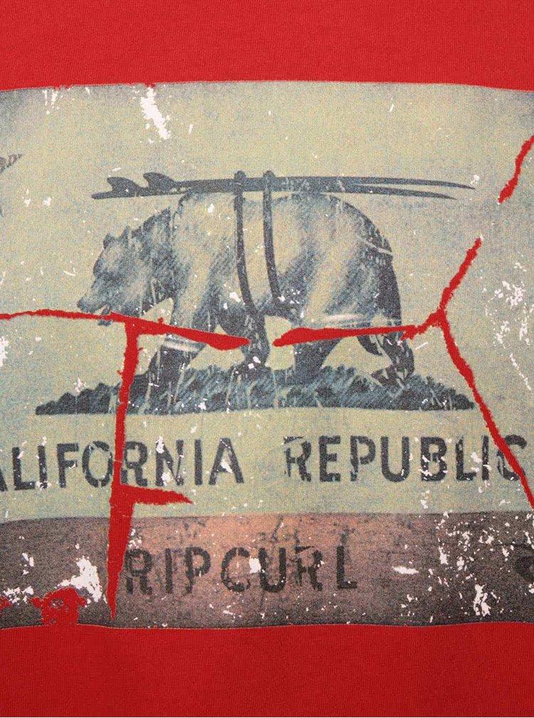 Červené pánské triko s potiskem Rip Curl Califrutty SS Tee