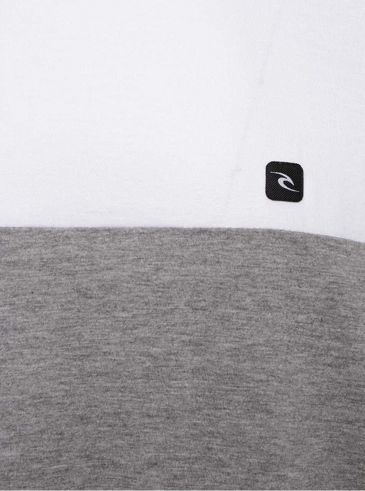 Bluza colorblock Rip Curl Blocked LS Tee cu logo