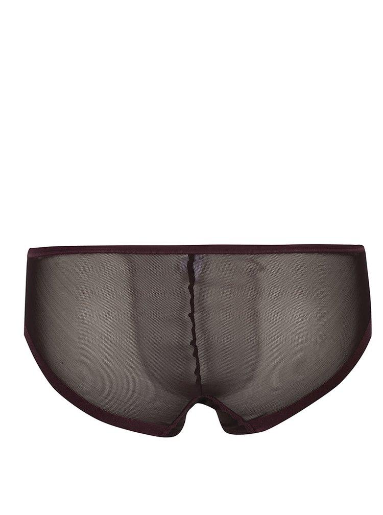 Vínové priesvitné nohavičky DKNY
