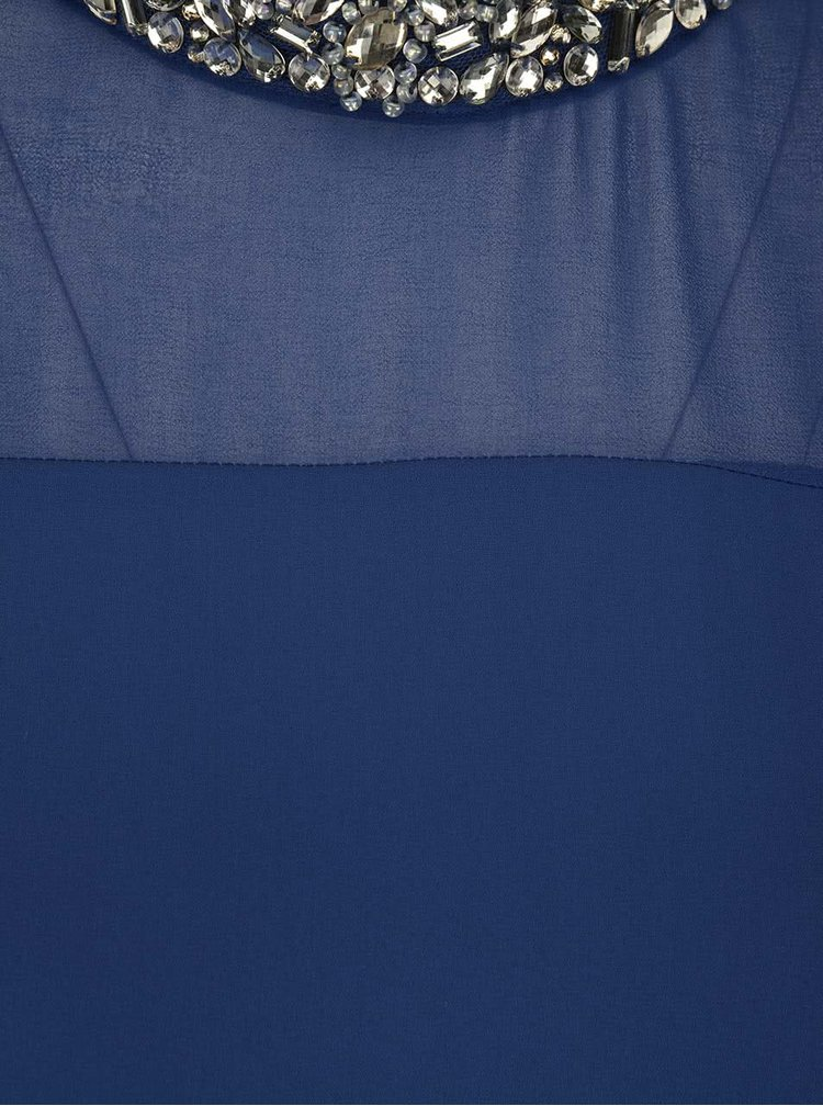 Top halter albastru Dorothy Perkins cu aplicații