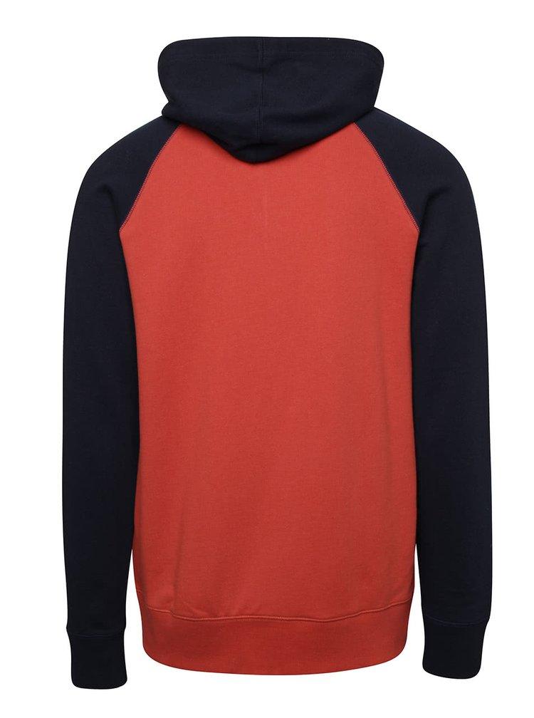 Hanorac O'Neill Henley portocaliu cu albastru