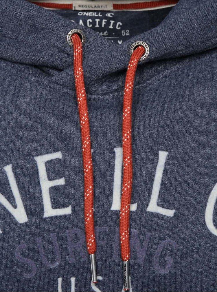 Sivomodrá pánska žíhaná mikina s nápisom O'Neill Montery