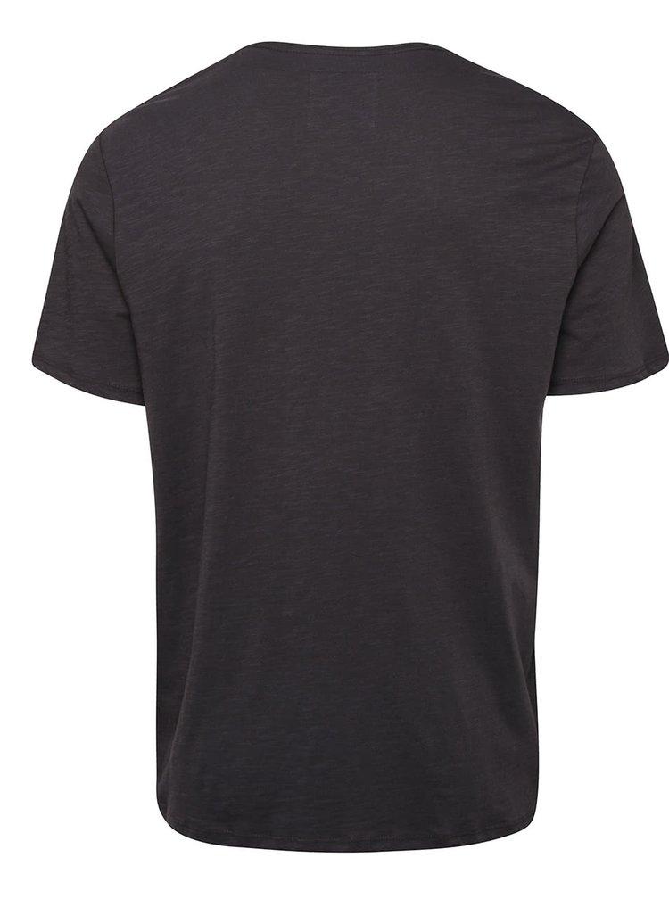 Tmavosivé pánske tričko s potlačou O´Neill Trip