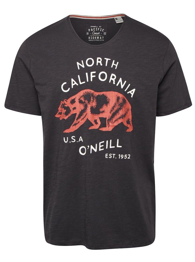 Tricou gri inchis O'Neill Trip cu print