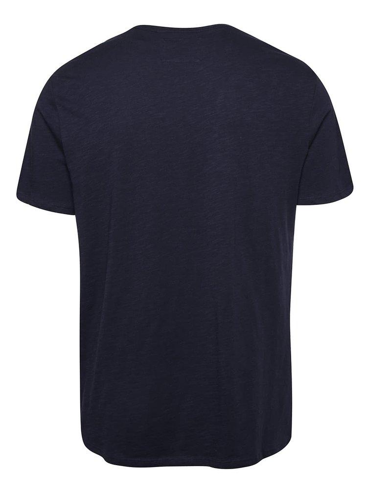 Tmavě modré pánské žíhané triko s kapsou O'Neill Jack's base