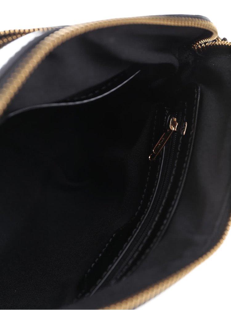 Černá lesklá crossbody kabelka Clarks Misterton