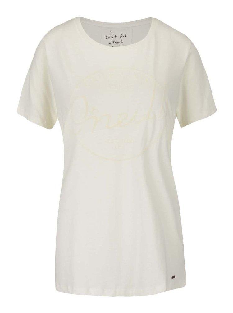Krémové dámske tričko s potlačou O'Neill Base Brand