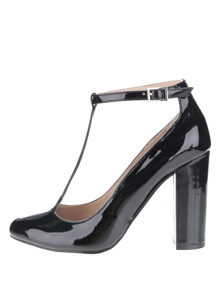 Čierne topánky na vysokom podpätku Dorothy Perkins