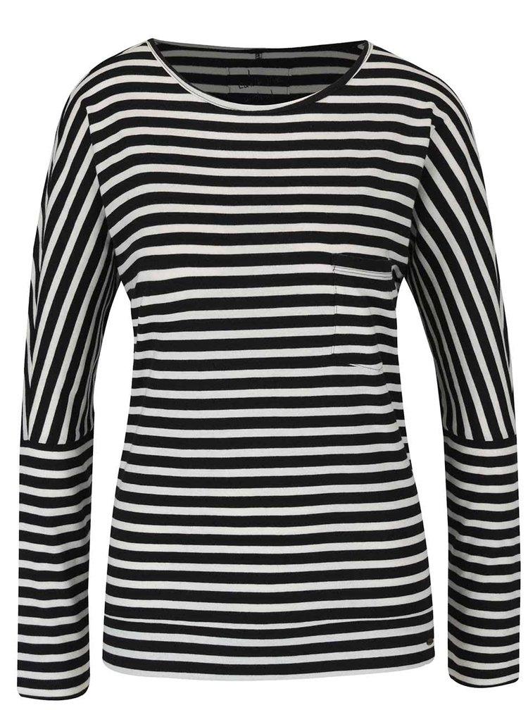 Čierno-biele dámske pruhované tričko O'Neill Fantastic