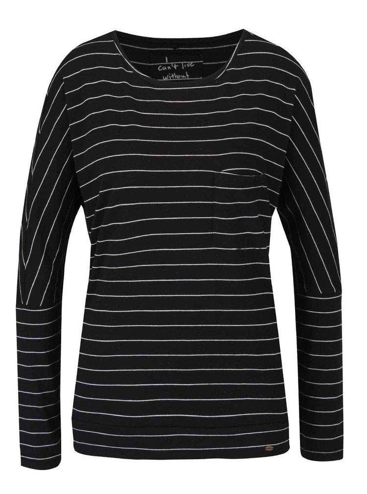 Bílo-černé dámské pruhované tričko O'Neill Fantastic