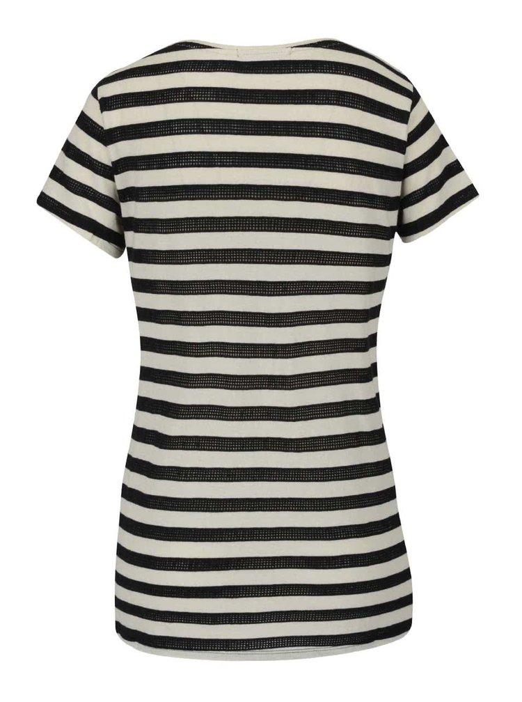 Černo-béžové dámské pruhované tričko O'Neill Eyelet