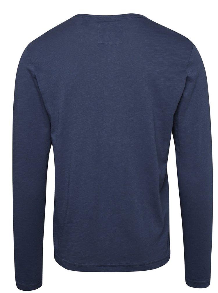 Modré pánske tričko s dlhým rukávom O´Neill Heneley