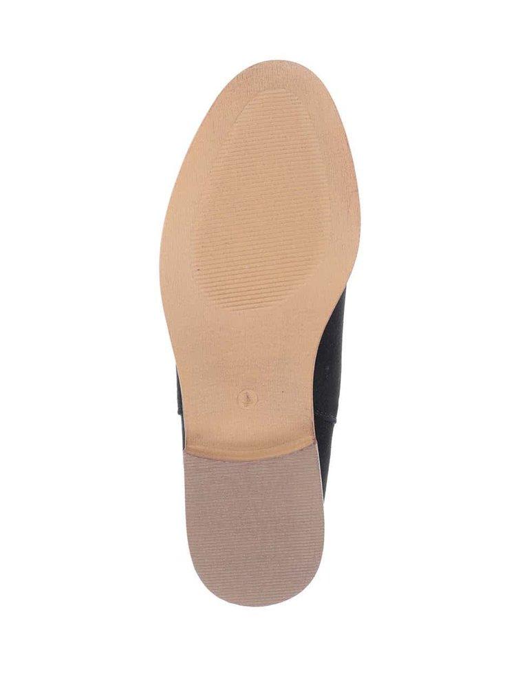 Čierne členkové chelsea topánky v semišovej úprave Dorothy Perkins
