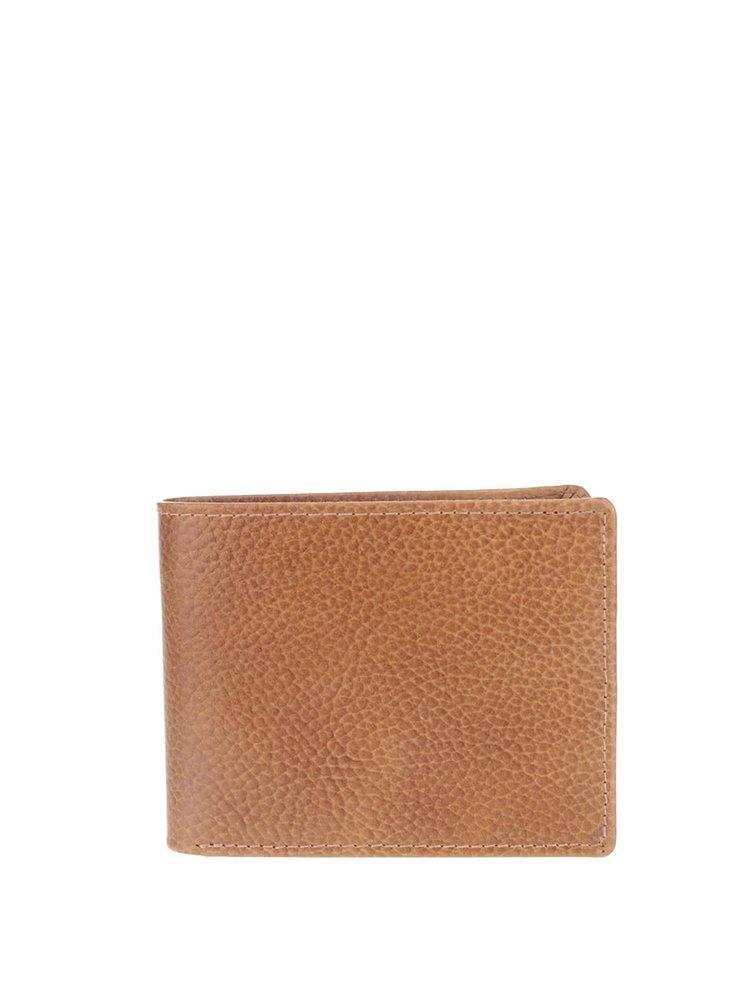 Hnědá pánská kožená peněženka Clarks Rook