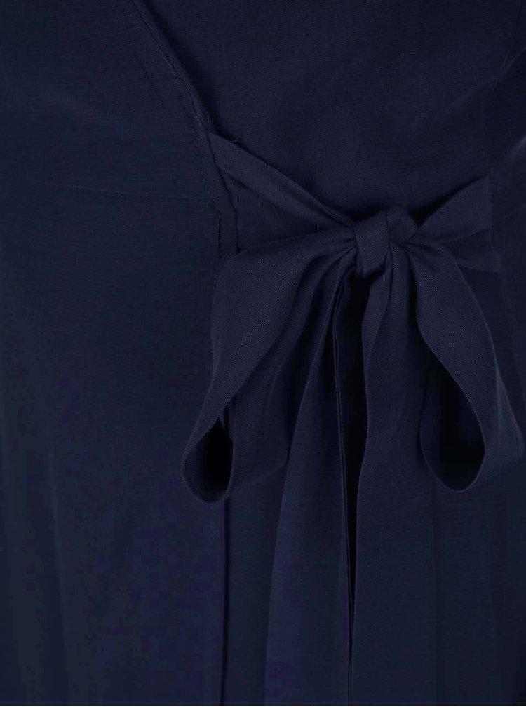 Tmavě modré zavinovací šaty Miss Selfridge
