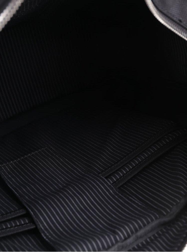 Černá unisex aktovka s detaily Clarks Monegal