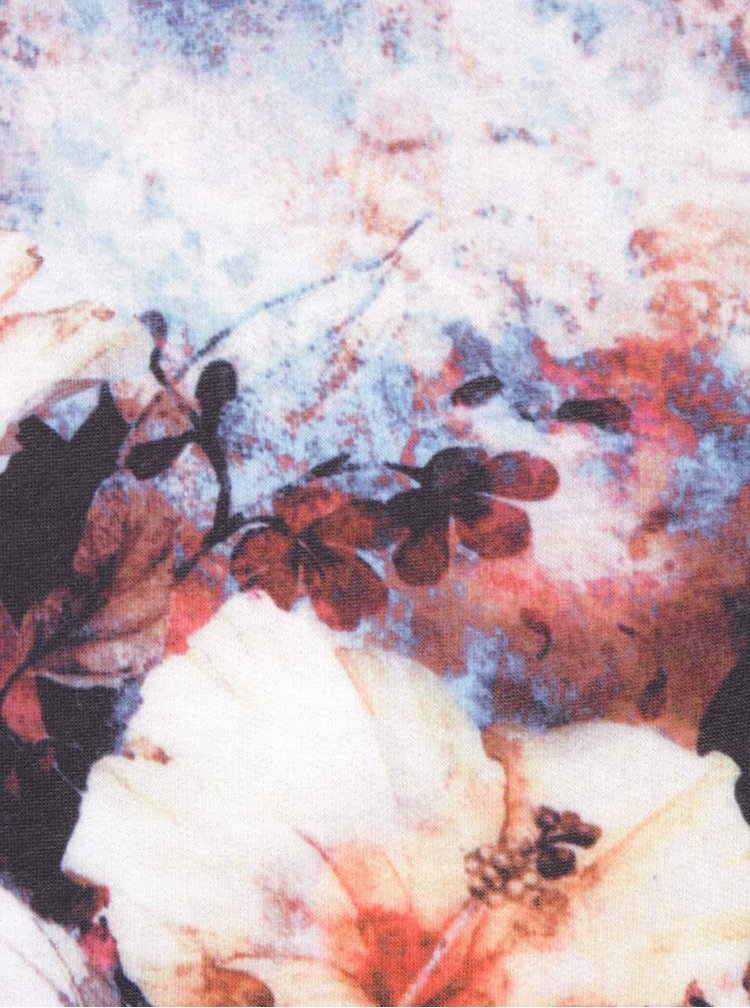 Rochie cu imprimeu albastră Smashed Lemon cu mâneci 3/4