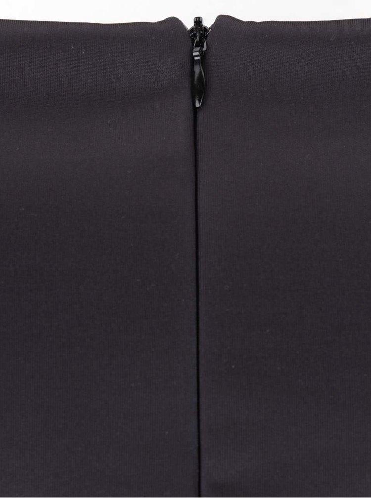 Čierne šaty bez rukávov s potlačou kvetov Smashed Lemon